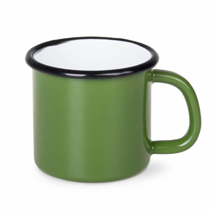kubek blaszany zielony